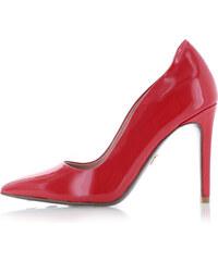 a6587f1753 Tamaris - HEART SOLE Červené kožené lodičky 1-22400