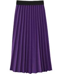 965c15d7fd6 Promoda.cz Dámská plisovaná midi sukně MODA214 fialová