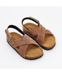 a34ebc5c46 Reserved - Kožené sandále - Hnědá