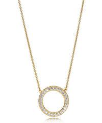 Pandora Luxusní náhrdelník s třpytivým přívěskem 367121CZ-45 d0ee50e4ab1