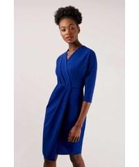 54d7da3e2 numoco Tmavo modré vypasované šaty 53-12A - Glami.sk