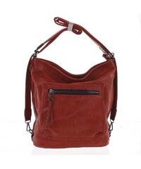 Moderní měkká kabelka batoh červená - Delami Sawyer červená 92ab2d7c983