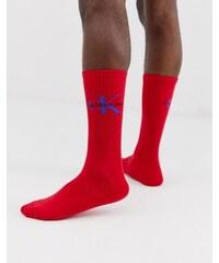 Calvin Klein Jeans vintage logo crew socks in red - Red 48abdfcc29