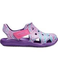 Dětské boty Crocs SWIFTWATER WAVE fialová růžová f8267377f9