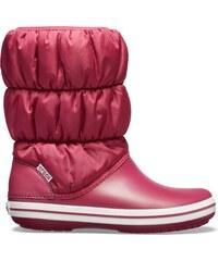 55ecca1008c5 Dámske zimné topánky Crocs WINTER PUFF BOOT granátovo červená   biela 36-37