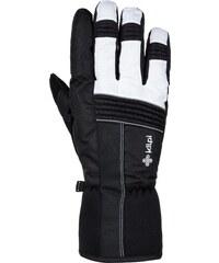 ND Pánské luxusní kožené řidičské rukavice 1433BP bezprsté bílé s ... 3421ae731a