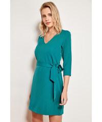 Šaty dámské Trendyol Basic Loop Green d34a50585e9