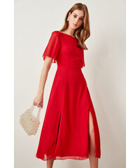d2a5a8e5ad6c Trendyol Red Slash Detailed Dress Red