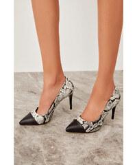 22858c9a7412 Trendyol Black Snake Women s Wedge-Heeled Shoes Black