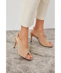 Trendyol Beige Suede Women s Wedge-Heeled Shoes Beige 029718de2b0
