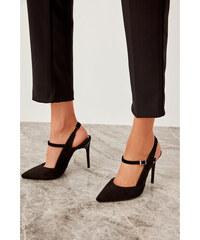 Trendyol Black Suede Women s High Heels Shoes Black 34e1f17559c