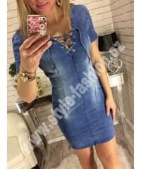7e6d6d53aae Style Fashion Džínové šaty se šněrováním