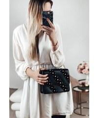 16099fe3e8c0 ZAZZA Štýlová kabelka v čierno-zlatej farbe. Detail produktu · ZAZZA Čierna  kabelka na rameno s perličkami