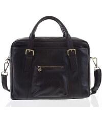 f0aa309b91 Kožená väčšia business taška čierna - ItalY Fabio čierna