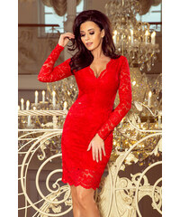 c85c91d358f2 Krajkové šaty dlouhý rukáv Numoco 170-6 červené M