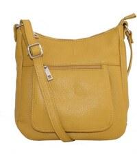 Talianske kožené kabelky dámske cez rameno stredné žlté Zolana b51f27b83fb