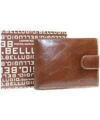 b2273be427 Bellugio Kožená peňaženka pre mužov so sponou AM-21-032 - svetlohnedá AM-