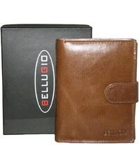 d06f8f05bd Vertikálna pánska peňaženka so zapínaním Bellugio AM-21-072A - svetlohnedá  AM-21