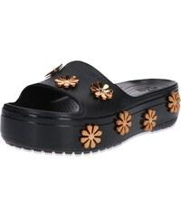 9b34bba7e7 Crocs Pantofle  Crocband Platform  bronzová   černá