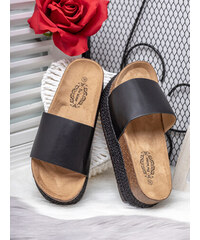 436e2a9a0748 MODANOEMI Korkové stylové černé pantofle Bo Aime GM7221-H87C