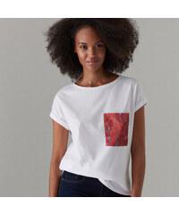 fb90eb1e7780 Mohito - Bavlnené tričko s potlačou s motívom retiazok - Biela
