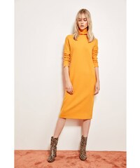 Trendyol Orange Collar Detailed Knitting Dress Orange 361d0feea87