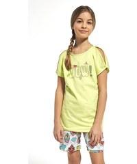 Cornette Wow lányka pizsama zöld 53eefdc6ec