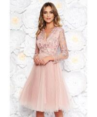 StarShinerS Rózsaszínű Artista alkalmi tüll harang ruha flitter belső  béléssel hímzett betétekkel b76ecade85