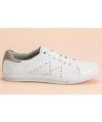 Tommy Hilfiger bílé kožené tenisky Iconic Metallic Elastic Sneaker ... 6571d61d42