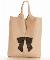 cb15a445b05 Kožená taška MARCO MAZZINI italská taška - růžová