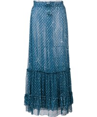 55b476e51f96 Poupette St Barth floral print maxi skirt - Blue