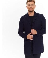 Top Secret Kabát pánský tmavě modrý na knoflíky e623e72a74f