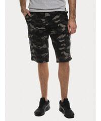 Ombre Clothing Pánské plátěné kraťasy Street černé. Detail produktu. Nové.  Kraťasy SAM 73 MS 733 0cc94802d2