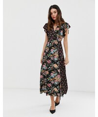 484879a29038 French Connection Bridget mixed floral print maxi dress - Dark slate multi