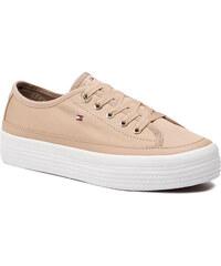 ae8d7f32e9cf6 Tenisky TOMMY HILFIGER - Corporate Flatform Sneaker FW0FW02456 Desert Sand  932