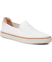 Biele nepremokavé kožené zimné topánky s kožušinkou UGG Highland ... a24ba978f6d