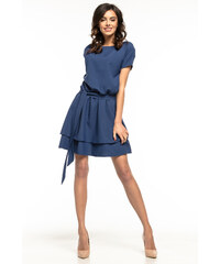 a3ed57a73d6f Šaty Tessita T268 s dvojitou sukňou modré