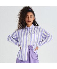 ab464483fcd6 Sinsay - Vzorovaná košeľa - Purpurová - Glami.sk