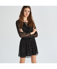 bc0ae687fea2 Sinsay - Čierne šaty s kontrastnou potlačou - Čierna