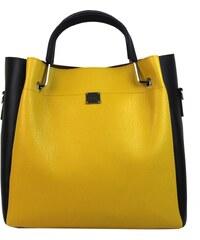 9fe4b1ba94 Grosso Kabelky přes rameno Žlutá hořčicová elegantní dámská kabelka ...