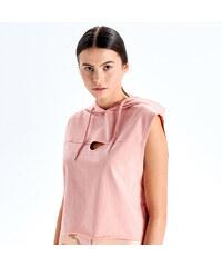 4df487505f26 Cropp - Oversize športová blúzka s kapucňou - Ružová