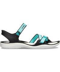 864b3d2a2ad2 Dámske sandále Crocs Swiftwater Webbing Sandal modrá   biela 41-42