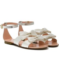 f487feda728e Elisabetta Franchi La Mia Bambina bow detail sandals - White