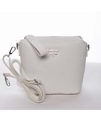 Malá biela dámska crossbody kabelka - David Jones Olenka biela 6c577795dd1