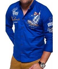701775c95f16 Pánská košile REDBRIDGE - modrá slim fit R-41604-BL - Glami.cz
