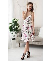 17e7a5d25182 Eva   Lola Bílé šaty s květy letní