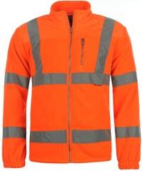 Reflexní bunda Dunlop Fleece pán. oranžová