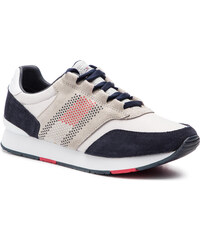 64fa393143 Sportcipő TOMMY HILFIGER - Corporate Material Mix Runner FM0FM02056 Diamond  Grey 001