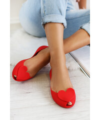 57b3f4b75072 Ideal Červené balerínky Ismene