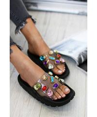 Ideal Černé pantofle Hallie 97f4198d8ff